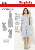 1800 Simplicity Pattern: Misses' and Plus Size Amazing Fit Dresses and Maxi Dresses